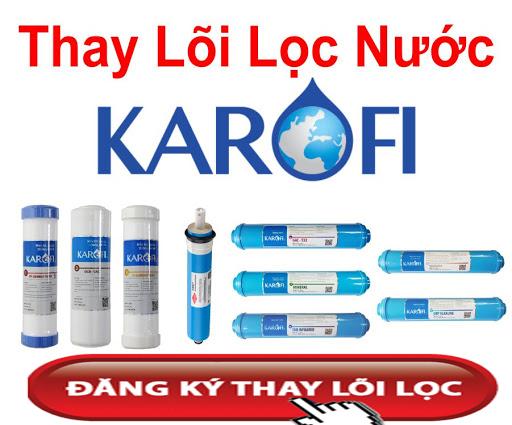 Thay lõi lọc nước karofi tại nhà